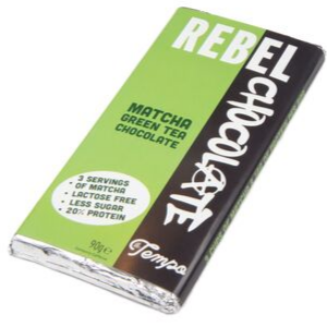 Large Bar of Match Green Tea Rebel Chocolate