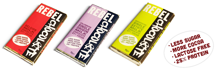 Rebel Chocolate high protein healthier chocolate